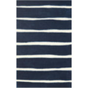 Martha Stewart Rugs™ Chalk Stripe Rectangular Rugs – Wrought Iron
