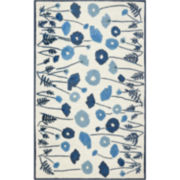 Martha Stewart Rugs™ Poppy Glossary Rectangular Rugs – Azurite Blue