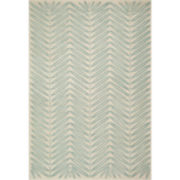 Martha Stewart Rugs™ Chevron Leaves Rectangular Rugs – Blue Fir