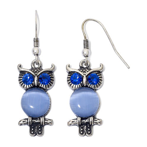 Arizona Blue Stone Owl Earrings