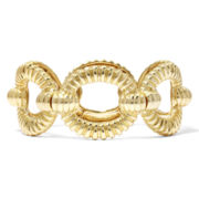 Monet® Gold-Tone, Textured Open Link Stretch Bracelet
