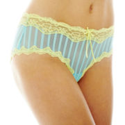 THE BODY Elle Macpherson Intimates Lace and Mesh Hipster Panties