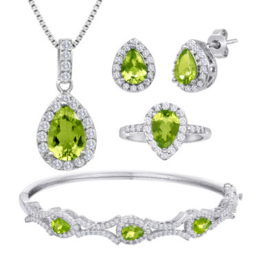 jcpenney.com | Genuine Peridot and Cubic Zirconia 4-pc. Boxed Set