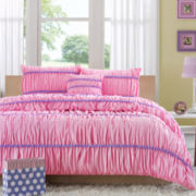 Mizone Kayla Ruched Comforter Set