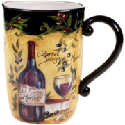 Wine & Cheese Party Earthenware Pitcher