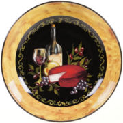 Wine & Cheese Party Earthenware Serving Bowl