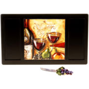 Wine & Cheese Party Earthenware Cheese Board & Knife