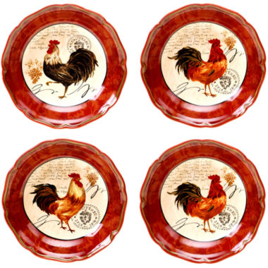 jcpenney.com | Certified International Tuscan Rooster Set of 4 Soup Bowls