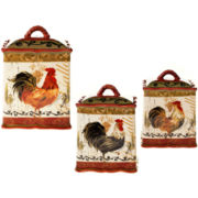 Tuscan Rooster 3-pc. Canister Set