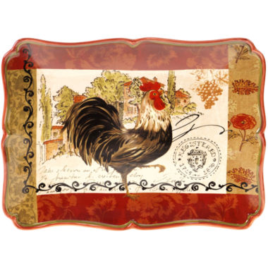 "jcpenney.com | Certified International Tuscan Rooster 16x12"" Rectangular Platter"
