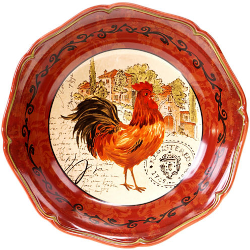 Certified International Tuscan Rooster Serving Bowl