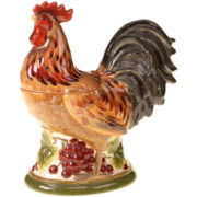 Tuscan Rooster Cookie Jar