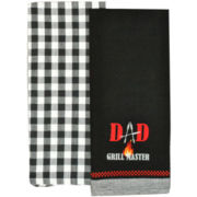 Dad Master Griller Set of 2 Dish Towels