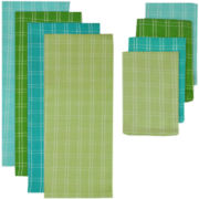 Garden Plaid 8-pc. Dish Towel and Dishcloth Set