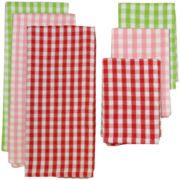 Cherry Check 6-pc. Dish Towel and Dishcloth Set