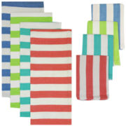 Cabana Stripe 8-pc. Kitchen Towel and Dishcloth Set