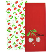 Cheery Cherries Set of 2 Dish Towels