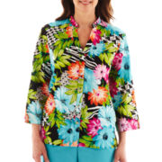 Alfred Dunner® St. Barth's Floral Geometric Top