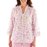 Alfred Dunner® Cape Cod Millefleur Burnout Shirt - Petite