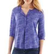 jcp 3/4-Sleeve Peasant Shirt - Petite
