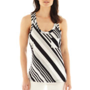 a.n.a Racerback Striped Tank Top