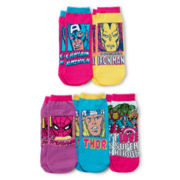 5-pk. Character Print Low-Cut Socks