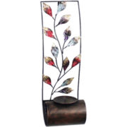 Multicolor Accent Leaf Wall Sconce