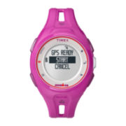Timex® Ironman Run x20 GPS Womens Pink Resin Digital Watch TW5K87400F5