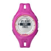 Timex® Ironman Run x20 GPS Womens Pink Resin Digital Watch TW5K87400F5