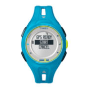 Timex® Ironman Run x20 GPS Womens Blue Resin Digital Watch TW5K87600F5