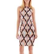 Alyx® Sleeveless Diamond Print Sheath Dress