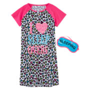 Total Girl® Night Shirt and Mask - Girls 4-16