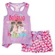Total Girl® Tank Top and Shorts Pajama Set – Girls 4-16