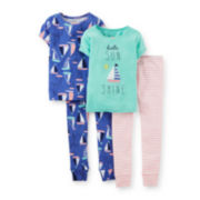Carter's® 4-pc. Pajama Set - Toddler Girls 2t-5t
