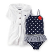 Carter's® 4th of July 2-pc. Swimsuit and Cover Up - Baby Girls newborn-24m