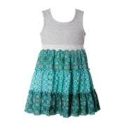 Pinky Tiered Tank Dress - Preschool Girls 4-6x