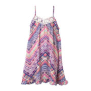 Pinky Printed Dress - Preschool Girls 4-6x