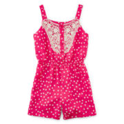 Disorderly Kids® Polka Dot Romper - Preschool Girls 4-6x