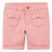 Arizona Bow Pocket Bermuda Shorts – Girls 2t-5t