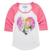 Disney Frozen Graphic Raglan Tee – Girls 7-16