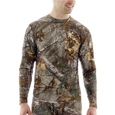 jcpenney.com | Medalist® Realtree™ Performance Stretch Thermal Crewneck Tee