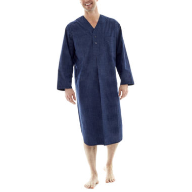 jcpenney.com | Stafford® Woven Long-Sleeve Nightshirt - Big & Tall