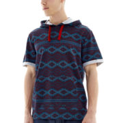 Falcon Short-Sleeve Hooded Knit Pullover