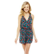 L'Amour by Nanette Lepore Sleeveless Cross-Front Romper