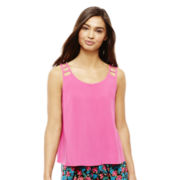 L'Amour by Nanette Lepore® Lattice-Shoulder Tank Top