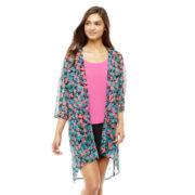 L'Amour by Nanette Lepore® 3/4-Sleeve Chiffon Kimono