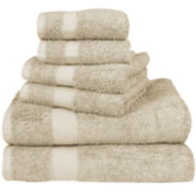 Black Label Dual-Texture 6-pc. Towel Set