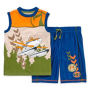 Disney Collection Planes Tee and Shorts Set - Boys 2-10