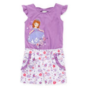 Disney Collection Sofia the First Romper - Girls 2-10