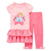 Disney Collection Cinderella Dress and Leggings - Girls 2-10